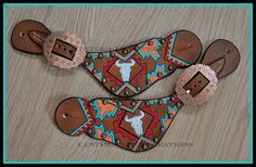Southwest spur straps by LanternLaneCreations on Etsy, $65.00