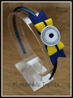 Articoli simili a Despicable One-Eyed Guy Bow-Character Hair Accessory-Bow Headband or Clip-One Eyed Despicable Guy Headband-One Eyed Yellow Guy Accessory su Etsy Minion Birthday, Minion Party, Felt Headband, Headbands, Hair Ribbons, Hair Bows, Minion Craft, Felt Bows, Barrettes