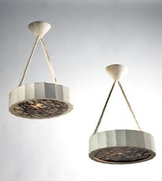 Pair of Plaster Pendant Lights by Francois Dimech | Rose Uniacke