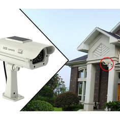 Realistic Dummy Security Camera - Keep Intruders Away! Now 53% Off Retail! Pin Now, Shop Soon while Quantities Last! #home #safety #security #accessories #electronics #clearance #sale #products