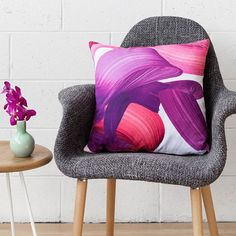 Hey, I found this really awesome Etsy listing at https://www.etsy.com/listing/258929028/adrian-cushion-pink-printed-velvet
