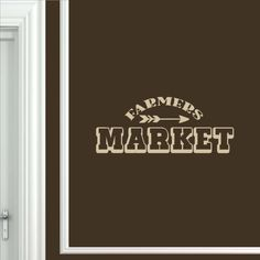 Farmers Market – funwithprint Farmhouse Wall Decals, Vinyl Wall Decals, Farmers Market, How To Apply, Lettering, Marketing, Drawing Letters, Brush Lettering