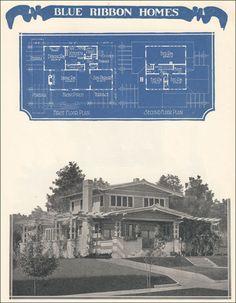 Asian Airplane Bungalow - 1924 Radford's Blue Ribbon Homes - William A. Radford Company
