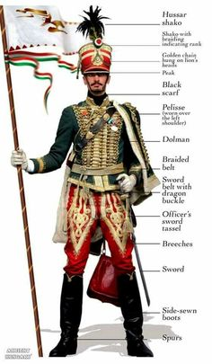 The Hussars - In the first half of the century, a light cavalry appeared on the battlegrounds of Europe called the Hungarian hussars. Historical Costume, Historical Clothing, Budapest, Folk Costume, Costumes, Hungary History, Hungarian Embroidery, Napoleonic Wars, My Heritage