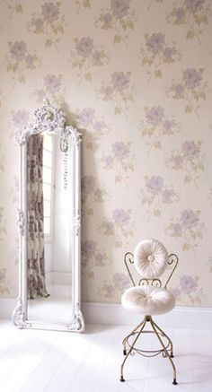 Oh the loveliest things. I adore the wallpaper and the mirror so much.