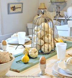 Fall Tablescape via Town and Country Living #allthingshome
