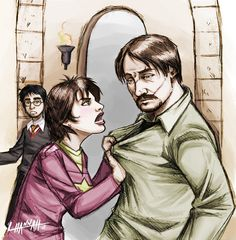 """Million Times Remus and Tonks by ~hnl on deviantART. I love how Harry is in the background like """"Wrong room!"""""""