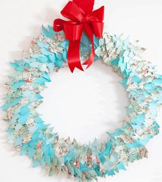Paper Tree Wreath from @joannstores | Make your own wreath with supplies from Joann.com