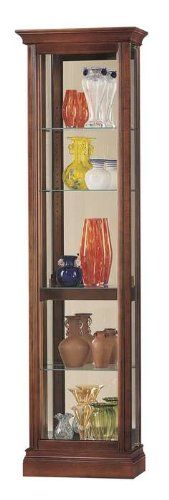 Howard Miller Lynwood Windsor Cherry Corner Curio Cabinet $497.70 ...
