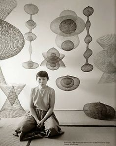 """RIP Ruth Asawa, """"a sculptor, teacher and advocate for the arts whose work brought into modern sculpture a complexity of line never ventured before, died Monday night. She was Ruth Asawa for LIFE,. Sculptures Sur Fil, Sculpture Art, Wire Sculptures, Modern Sculpture, Ruth Asawa, Instalation Art, Crochet Art, Wire Crochet, Grafik Design"""