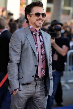 """Robert Downey Jr. at the premiere of """"Captain America: The First Avenger"""" (2011)"""