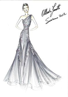 #AlbertaFerretti for #Sanremo 2012..  #Love #sketches!