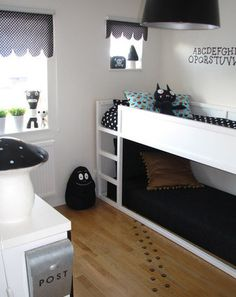 ikea kura bed - great kids' room option and u could use this without a bed on the bottom to create a fort for Logan so he has more space Kid Beds, Bunk Beds, Ikea Kura Bed, Ikea Loft, Girls Bedroom, Childs Bedroom, Kid Bedrooms, Room Inspiration, Home Decor