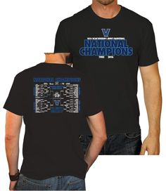 142f9956417 Villanova Wildcats 2016 National Champions College Basketball Bracket  T-Shirt