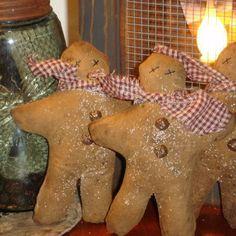 Handmade Primitive Crafts | inch Scented Gingerbread Man Primitive Holiday Decoration ...