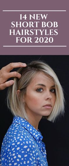 14 New Short Bob Hairstyles for 2020 Short Hair With Layers, Short Hair Cuts For Women, Medium Hair Cuts, Short Hair Styles, Bob Haircuts For Women, Haircuts For Fine Hair, Short Bob Haircuts, Short Bob Cuts, Current Hair Trends