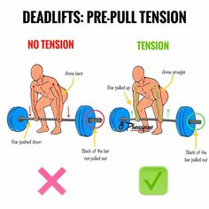 """DEADLIFTS: PRE-PULL TENSION -One of the most important things when it comes to deadlifting is learning how to create full body tension before pulling the barbell up.-When I say """"creating tension"""". Gym Tips, Gym Workout Tips, Weight Training Workouts, Exercise Moves, Workout Fitness, Fitness Tips, Fitness Motivation, Weight Loss Motivation, Deadlift Variations"""