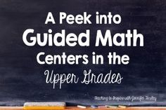 Getting Started with Math Centers - Teaching to Inspire with Jennifer Findley