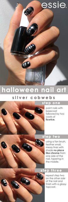 Acrylic Nail Designs, Nail Art Designs, Acrylic Nails, Art Nails, Nails Design, Halloween Nail Designs, Halloween Nail Art, America Nails, Essie Nail Polish