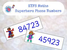 A great activity for practising numeral recognition. Ask the children to read each of the superheroes' numbers and dial them using play phones. Maths Eyfs, Numeracy Activities, Activities For Boys, Number Activities, Superhero Ideas, Superhero Classroom, New Classroom, Traction Man, People Who Help Us