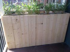 Steigerhouten plantenbakken op maat gemaakt vanaf 89 Euro. - Tuin decoratie - Bouw en Tuin op Intramarkt.be