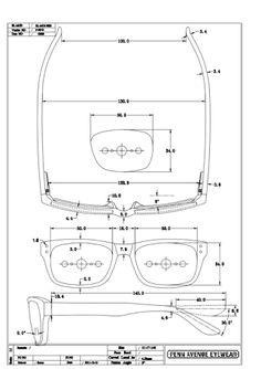 glasses technical drawings ile ilgili görsel sonucu