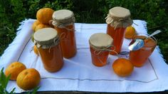 Mandarinková marmeláda Marmalade Jam, Preserves, Herbalism, Homemade, Table Decorations, Tableware, Syrup, Herbal Medicine, Dinnerware