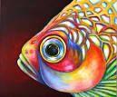 vis met kleuren