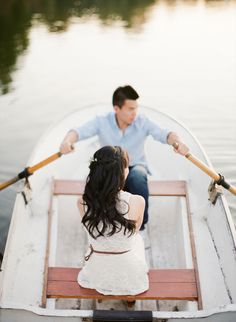 "A rowboat engagement session gives us visions of ""The Notebook"" Photography: guciophotography.com View entire slideshow: Engagement Session Ideas on http://www.stylemepretty.com/collection/515/"