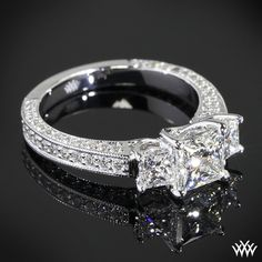 3 stone princess cut engagement ring.. This is it!