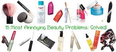 15 Most Annoying Beauty Problems: Solved!: 1. My Makeup Brushes Ruin In No Time! 2. Concealer For Dark Circles Is Cakey! 3. That Icky White Film From Lipgloss! 4. Hair Grows Quickly After Shaving! 5. I Get Mascara On My Eyelids! 6. My Fav Products Are Discontinued! 7. I Can't Get All My Makeup Off! 8. Thin Frizzy Hairs Near The Forehead. 9. Packaging Starts To Look Grimy. 10. I Always Smudge My Polish. 11. Upper Lip Waxing: The Aftermath. Read more at our site, and find out how we solved it!