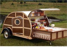 SWEET Fantasy Trailer from Neiman Marcus!  Bulleitt Bourbon Woody Tailgate Trailer - Yours for only $150,000:)