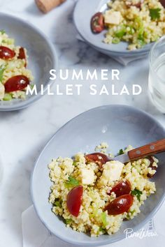 Summer Millet Salad because sometimes grains are greater than greens. An easy recipe to execute that's packed with great ingredients.