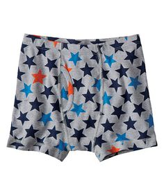 Gray Stars Organic Boxer Briefs by Hanna Andersson