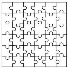 Quilting block design puzzle jigsaw filled square 5 inch machine embroidery design redwork instant download by BelsEmbroidery