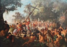 The Elevation of the Cross in Porto Seguro Bahia 1500 painting by Pedro Peres 1879 http://ift.tt/2xw7oLn