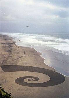Land art by Jim Denevan, creator of the world's largest freehand drawing.