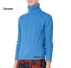 Вязаный свитер спицами от Carven - СХЕМЫ http://mslanavi.com/2016/09/vyazanyj-sviter-spicami-ot-carven/