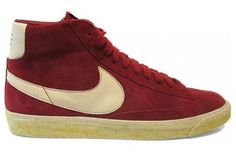 Blazer  Year Introduced: 1973  Before Nike could think globally, they had to act locally. The Blazer, their first basketball shoe, was named for the basketball team in their back yard - the Portland Trail Blazers - and worn by several of their big names including Geoff Petrie. While not exactly a groundbreaking design, even for the early '70s, the Blazer brought the Swoosh onto the hardwood - and continues to shine as part of Nike's SB line. A true classic never dies.