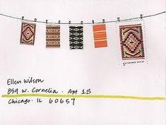clothesline, envelope ideas