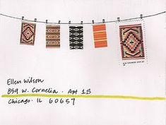 clothesline, envelope ideas