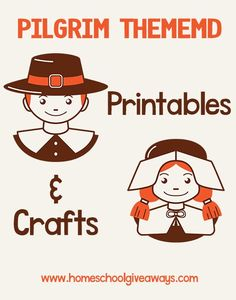 Pilgrim Themed Printables and Crafts