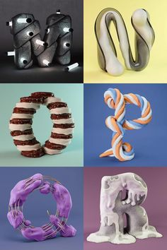 The Sculpted Alphabet by FOREAL (M - R)