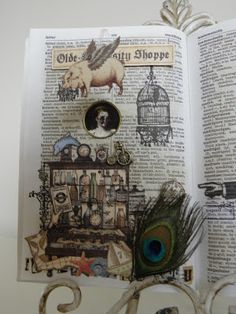 Fabulous altered book page