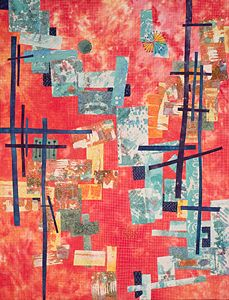 On the Edges by Catherine Kleeman: Art Quilt available at www.artfulhome.com