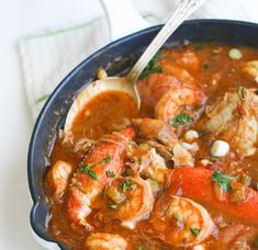 Chicken Shrimp & Sausage Gumbo — a rich, flavorful gumbo with authentic flavors; loaded with chicken, sausage, shrimp and crab legs. Chicken Shrimp And Sausage Gumbo Recipe, Shrimp Gumbo, Chicken And Shrimp, Chicken Gumbo, Seafood Gumbo, Chicken Sausage, Butter Chicken, Garlic Butter, Chicken Pasta