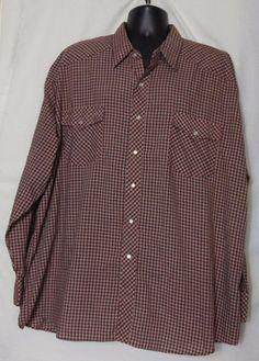 Wells & Morris Casuals Men's Multi-color Pearl Snap Western Plaid Shirt Size 2XL #WellsMorris #Western