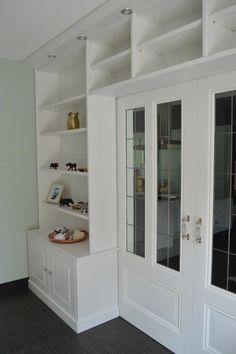 Home Office, Bookcase, Shelves, Closet, Home Decor, Houses, Living Room, Homes, Shelving