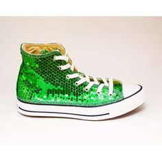 Sequin Kelly Green Canvas Canvas Hi Top Sneakers Shoes ($130) ❤ liked on Polyvore featuring shoes, sneakers, black, hi tops, sneakers & athletic shoes, women's shoes, black shoes, black high tops, black hi top sneakers and sparkle sneakers