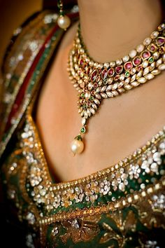 Kundan and rubies